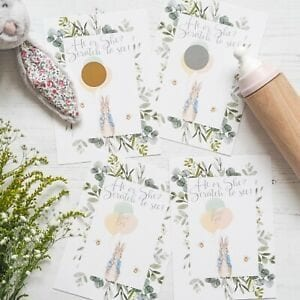 Peter Rabbit Gender Reveal Scratch Cards